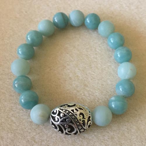 Heather Stanworth Amazonite Blue Smooth Bracelet £12.99