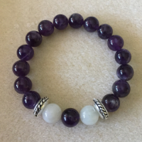 Heather Stanworth Amethyst Rainbow Moonstone £16.99