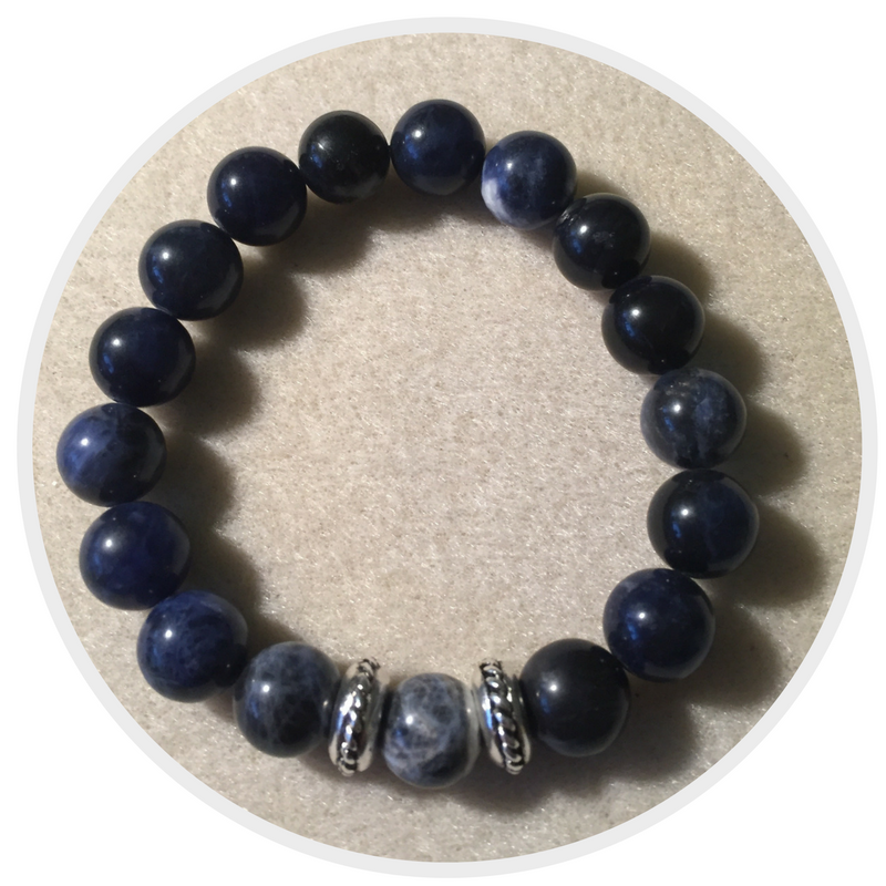 Heather Stanworth mens crystal gemstone bracelet