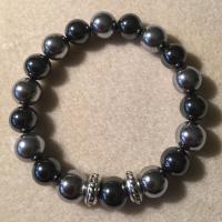 Heather Stanworth Mens Hematite Bracelet £10.99