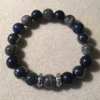 Heather Stanworth Mens Labradorite Sodalite Hematite Bracelet £15.99